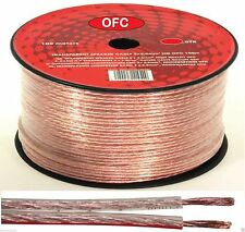 20 METER SPEAKER CABLE 2 X 1.5MM OXYGEN FREE COPPER AUDIO WIRE