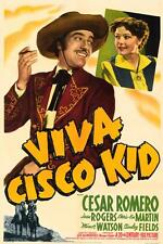 VIVA CISCO KID Movie POSTER 27x40 Cesar Romero Jean Rogers Chris-Pin Martin