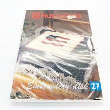 Husqvarna Viking Embroidery Designs Disk #27 Applique Disk Booklet Case