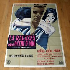 LA RAGAZZA DAGLI OCCHI D'ORO poster manifesto La fille aux yeux d'or G12