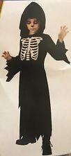 Skeleton Robe Costume Boy Size Medium (8-10)