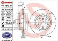Disc Brake Rotor-Premium UV Coated OE Equivalent Rotor Rear Brembo 09.A270.11