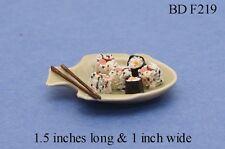 Sushi On Fish Platter  Dollhouse Miniature Food 1:12 Scale
