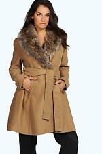 Boohoo Patternless Casual Coats & Jackets for Women