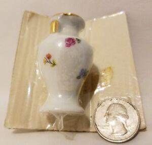 Vintage Bardet Limoges France Dollhouse Miniature Porcelain Ceramic Vase Urn