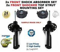 2x FRONT Shock Absorbers + Strut Tops for OPEL VIVARO Combi 1.9 DTI 2001->on