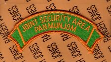 US Army Joint Security Area Pan Mun Jom JSA MP Military Police scroll patch