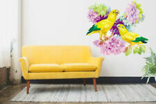 ced59 Full Color Wall decal Sticker flower nature parrot bedroom living room