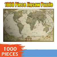 1000 Piece Adult Children Jigsaw Puzzles World Map Kids Household Puzzle Game