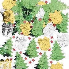 2x Christmas Tree & Gifts Metallic Confetti Table Sprinkles