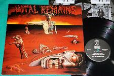 Vital Remains - Let Us Pray BRAZIL 1994 LP Rare 1st Press