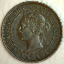 1901 Copper Canadian Large Cent Coin 1-Cent Canada XF #26