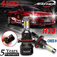 4Side H13 9008 LED Headlight Kit 2000W Hi/low Beam Bulbs for Chevy Cruze 11-2017