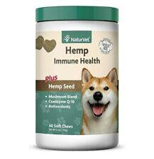 NaturVet Immune Health HEMP Coenzyme Q-10 Soft Chews 60 pcs for Dogs EXP:11/2021