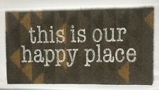"""NEW This is Our Happy Place Door RV Motorhome Cottage Floor Mat Rug 12"""" x 24"""""""