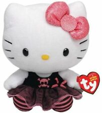 Hello Kitty Plush Punk Rock Ty Beanie Baby Pink Black Tulle Skirt Sparkle Bow
