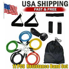 11 PCS Resistance Bands Set Home Gym Exercise Tube Bands Training USA