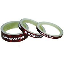 """Answer BMX Carbon Headset Spacers 3 Pack 1"""" Red"""
