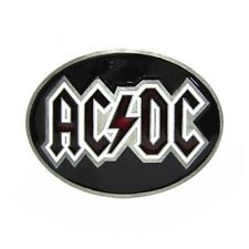 Oval Classic AC DC Music AC/DC Metal Belt Buckle Mens Vintage Leather Rock Roll