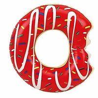 Kinder Schwimmreifen Donut mit Biss Luftmatratze Schwimmring 61cm Wasser Reifen
