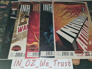 Inhumans Attilan Rising #1-5 Secret Wars (Marvel Comics, 2015, Battleworld)