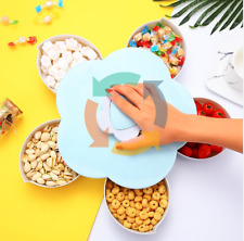 Petal Rotating Snacks Container Candy Holder Creative Design Eating Container