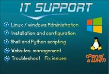 We will Install, configure, fix issues on Linux or windows server