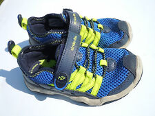 Stride rite toddler blue and neon Tennis shoes,great condition free shipping