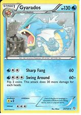 POKEMON BLACK AND WHITE DRAGONS EXALTED - GYARADOS 24/124 HOLO