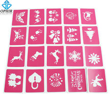 OPHIR 20 Sheets Airbrush Tattoo Templates Henna Tattoo Stencils for Airbrushing