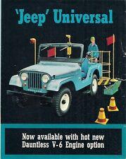 Jeep Universal 1965-66 USA Market Foldout Sales Brochure DJ-5 DJ-6 CJ-5 CJ-6