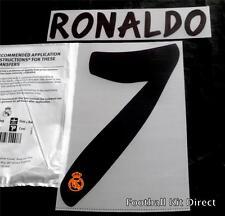 Real Madrid Ronaldo 7 La Liga Football Shirt Name Set 2013/14 Home Sporting ID