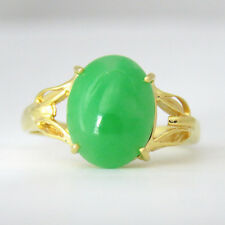 NYJEWEL 18k Solid Gold Brand New Gorgeous Jadeite Jade Ring
