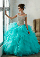 Prom Party Quinceanera Dress Formal Cocktail Ball Gown Wedding Pageant Dress US