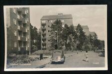 Sweden LIDINGO Torsviksvangen street scene used 1956 RP PPC
