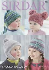 0a0442448ba Sirdar 4806 Knitting Pattern Baby Childrens Hats in Sirdar Snuggly Rascal DK