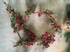 christmas Red berry garland artificual, for table mantlepiece windowsill L180cm