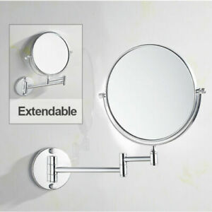 Wall Mounted Extendable Swivel Magnifying Glass Makeup Shaving Bathroom Mirror