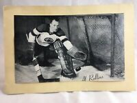 1945/64 Group 2 Beehive Hockey Photo Al Rollins Chicago Blackhawks