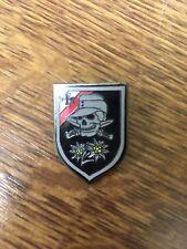 German Army Edelweiss Decoration Badge 1941 -1945 world  war  11 Sword  Skul