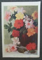 1935 Royal Hawaiian Hotel Menu, Cover Hibiscus by P. J. Rennings
