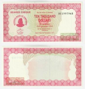 ZIMBABWE 10,000 Dollars (2003) P.22d - UNC.