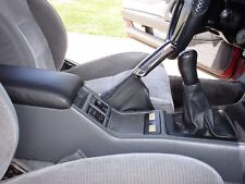 New custom made Toyota supra shift / shifter boot, 86-92 Black Leather