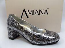Amiana Silver Pico Met Mary Jane Heels, Big Girls Size 33 (Us 3.0 M) D6730