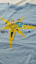 XL Tampa Bay Rays New Star Trek Night SGA SS t-shirt Shatner Nimoy