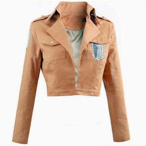 Anime Shingeki No Kyojin Attack on Titan Jacket Coat Uniform Cosplay Costume Hot