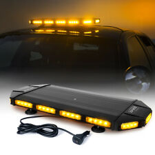 Xprite 27Inch Yellow LED Strobe Light Bar Rooftop Amber Flash Warning Rotating