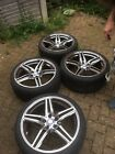 Mercdes E220 19? Alloy Wheels. Including Locking Wheels Bolts and Studs. 4 Caps.