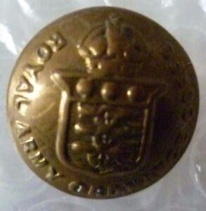 Button- WW1 Royal Army Ordnance Corps Button RAOC Button 20 mm KC (BRASS,Org)