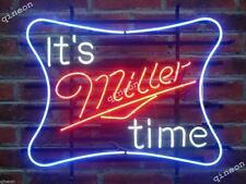 New Style It's Miller Time Miller Lite Beer Tiki Home Bar Neon Sign Light